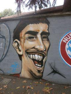 Ribery Football Art, Wall Murals, Graffiti, Legends, Soccer, Play, Color, Design, Hs Sports