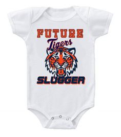 New Cute Funny Baby Onesie Baseball Future Slugger MLB Detroit Tigers ONLY AT ineedamousepad.com 100's to choose from!! #BabyShowerIdeas #Baby #BabyShowerGift #BabyShowerGifts #babyshowercake #ItsABoy #ItsAGirl #detroit #tigers #usa #Shower #Gift #giftforhim #baseball #mom #BabyGifts #BabyShowerGames #GiftIdeas #Etsy #Gifts