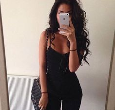 So temped to do dark hair it looks so exotic Long Black Hair, Long Wavy Hair, Black Hair Curls, Long Curls, Black Curly Hair, Curly Hair Styles, Looks Style, Hair Inspiration, My Hair