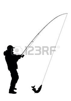 Ilustracja wektor rybak Zdjęcie Seryjne