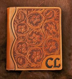 Leather Carving, Leather Art, Custom Leather, Leather Tooling, Leather Design, Handmade Leather, Leather Jewelry, Leather Binder, Leather Notebook