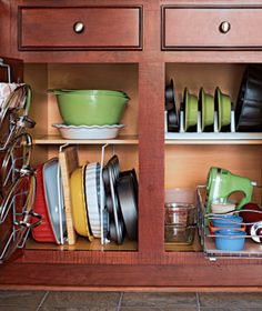 Kitchen cabinets can be messy and hard to organize...here is something we do to make it a little easier to find things and a lot more pleasing to the eye...let us organize for you.