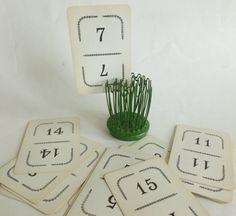 Vintage Flinch Playing Cards #vintage #antique #wedding #tablemarkers #tablenumbers