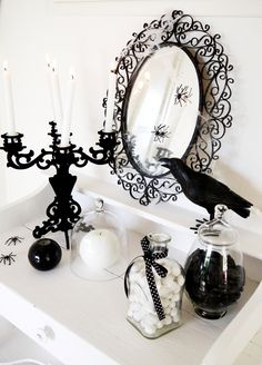 Party Printables | Party Ideas | Party Planning | Party Crafts | Party Recipes | BLOG Bird's Party: Black and White Halloween Decorating Ide...