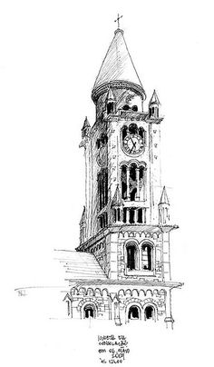 architectural renderings in Pen and Ink Architecture Journal, Perspective Drawing Lessons, Pop Art Wallpaper, Graffiti Painting, Ink Pen Drawings, Artist Sketchbook, Landscape Drawings, Black And White Drawing, Cool Sketches