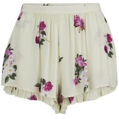 MINKPINK Women's Pink Petals Shorts - Multi ($26) ❤ liked on Polyvore featuring shorts, bottoms, pants, short, multi, floral high waisted shorts, highwaist shorts, high-rise shorts, high waisted short shorts and high rise shorts