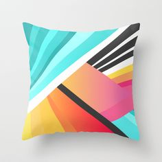 """Space Garden"" Throw Pillow by Elisabeth Fredriksson on Society6."