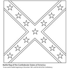 free rebel flag coloring pages | Blackline Flags: Confederate Flag | Heritage Coloring ...