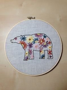 Hey, I found this really awesome Etsy listing at https://www.etsy.com/listing/190500814/happy-bear-embroidery-art-in-8-inch-hoop