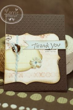 Thank you card by Lorrie