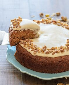 Healthy Carrot Cake with Greek Yogurt Cream Cheese Frosting | Well Plated