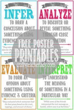 Free set of printable CRITICAL THINKING SKILLS Posters! Great for any secondary classroom! They… - https://www.luxury.guugles.com/free-set-of-printable-critical-thinking-skills-posters-great-for-any-secondary-classroom-they/