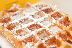 Catch the yellow waffle truck by Central Park NYC and get a Liege Waffle with all your favorite toppings.  Best waffle you will ever have!!