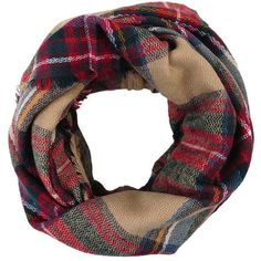 Look By M Wool Plaid Infinity Scarf | Fall Shopping List | Pinterest |... ❤ liked on Polyvore featuring accessories, scarves, loop scarves, wool shawl, plaid shawl, plaid infinity scarves and tartan shawl