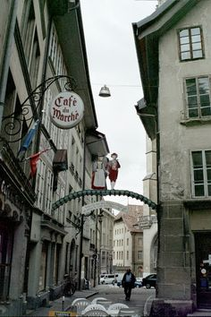 rue des Epouses, Fribourg Dog Words, Little Dogs, Rue, Switzerland, Spaces, Chocolate, World, Breakfast, Little Puppies