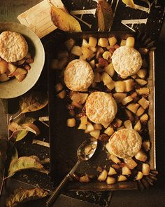 Baked Apples with Biscuits - #sweetpaul