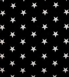 Baumwollstoff Sterne Stars Patchworkstoff Dekostoff Meterware schwarz weiß