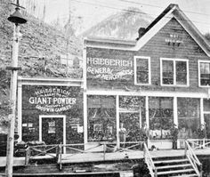 Giegerich general store in Sandon in Canadian History, General Store, History Facts, Vintage Photographs, British Columbia, Denver, Vancouver, Backyard, Painting