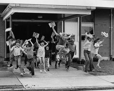 """""""School's out for summer in Belleville, Illinois, in 1974. """""""