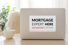 Mortgage Expert Decal - White & Black