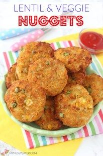 Delicious veggie nuggets packed with red lentils. These bite sized nuggets make brilliant finger food for kids and toddlers! Does anyone else have chicken nugget obsessed kids? My children love chicken nuggets and would pretty much eat them every day of the week given a chance. So in an attempt to get them eating a healthier...Read More »