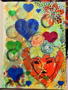 DIANE'S MIXED ART   Journal Page