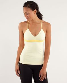 [$58] low coverage, light support tank designed for those with an A to B cup moisture-wicking fabrics pull sweat away from your skin luon fabric in the bust is four-way stretch to help keep your ladies secure luon light fabric in the body is breathable and lightweight tech specs designed for: yoga fabric(s): luon® light, luon® properties: moisture wicking, chafe resistant, breathable, four-way stretch shelf bra: yes support level: light coverage: low fit: fitted length: hip