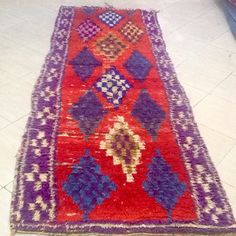 Boucherouite rug, original boucherouite, Moroccan carpet, Handmade rug, boho rug, bohochic, Tapis boucherouite, Berber rug, Marrakech carpet di MoroccanInteriors su Etsy