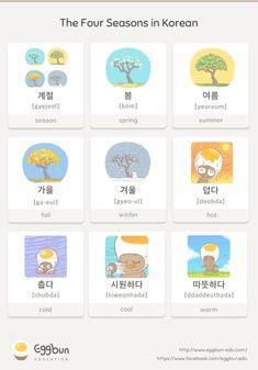 The Four Seasons in Korean Chat to Learn Korean with Eggbun!