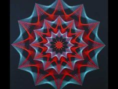 DIY Making Of Blacklight Stringart Yarn Art Deko Neon Circle by schwarzlicht.de - YouTube