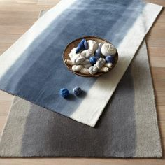 Runner for my kitchen?!?  Ombre Dye Rug - Midnight | west elm