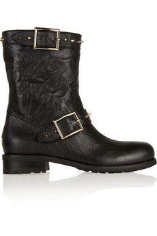 Jimmy Choo Dash studded leather biker boots | NET-A-PORTER
