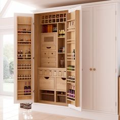 We never tire of great pantries. And this one by Chantry Kitchens is as beautifully crafted inside as it is practical.
