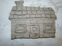 clay relief houses with artwithme blog