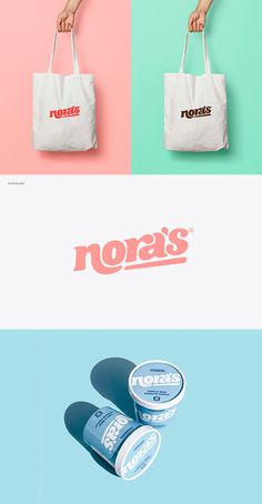 Nora's is a dairy-free ice cream brand that has worked tirelessly to perfect their deliciously creamy recipes. With their flagship flavours quickly securing Ice Cream Logo, Ice Cream Brands, Restaurant Branding, Logo Branding, Packaging Design Inspiration, Graphic Design Inspiration, Brand Identity Design, Branding Design, Brand Packaging