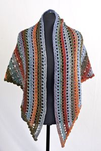 Cascade Yarns - Casablanca Bonita Openwork Shawl - FREE crochet pattern