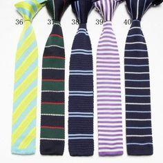 knitted Ties neck Tie Men's necktie Polyester wool cravat high quality several designs
