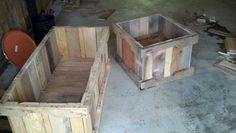 Pallet planter boxes could also make good chest bases or window box bases ;)