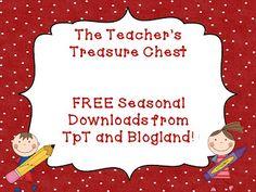 Free Seasonal Downloads From Favorite TpT Sellers!
