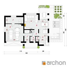 projekt Dom w orliczkach rzut parteru Bungalow, House Plans, Sweet Home, Floor Plans, How To Plan, Drawing, Decor, Manufactured Housing, Family Houses