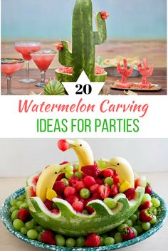 Watermelon Carving Ideas for PartiesYou can find Watermelon carving and more on our website.Watermelon Carving Ideas for Parties Dessert Party, Snacks Für Party, Dessert Food, Watermelon Fruit Salad, Watermelon Animals, Shark Watermelon, Watermelon Ideas, Fruit Salads, Watermelon Basket