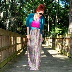 Elastic Waist Maxi Skirt #diy #sewing #tutorial
