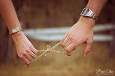 Engagement photography - Amanda and Daniel. Ring Shot. Infinity Symbol. Rustic couple shot.
