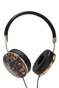 Frends headphones, $200, and tortoiseshell caps, $50, nordstrom.com.   - HarpersBAZAAR.com
