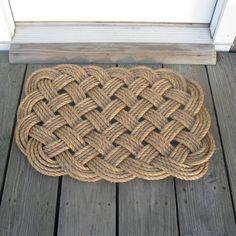 Door Mat, Square - Mystic Knotwork nautical knot