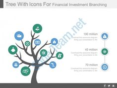 tree with icons for financial investment branching powerpoint slides Slide01