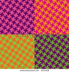 stock photo : A seamless, repeating houndstooth pattern in the psychedelic colors of the 60s-70s. Vector format also available.