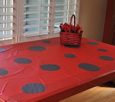 Table cloths! Lady bugs first birthday