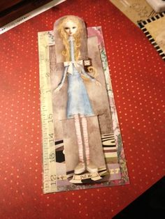 homemade Alice card for my pen pal