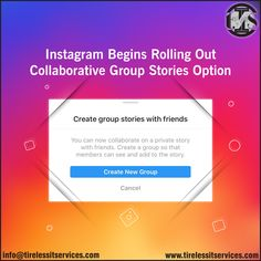 Instagram now lets you create group stories with Friends.  #Instagram #InstagramStories #marketingtips #marketingstrategy #updates #socialmediatrends #DigitalMarketing